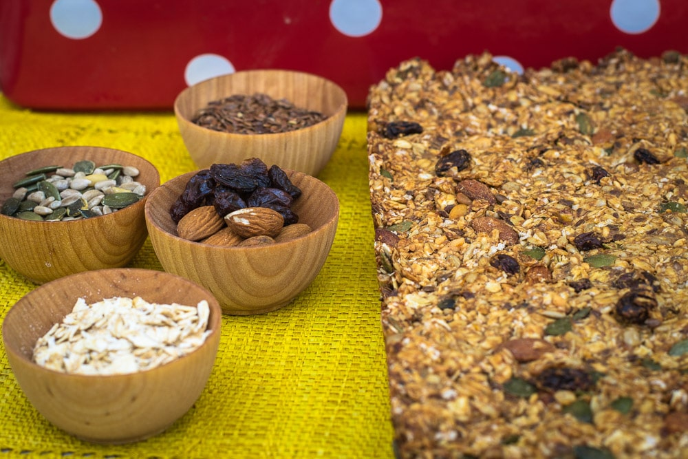 Ingredients for vegan flapjacks