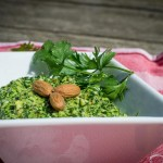 Fragrant Almonds and Coriander Pesto