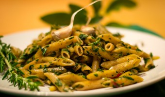 Herbs, Garlic and Spinach Whole Wheat Pasta