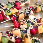 Hazelnut And Dark Chocolate Fruit Kebabs