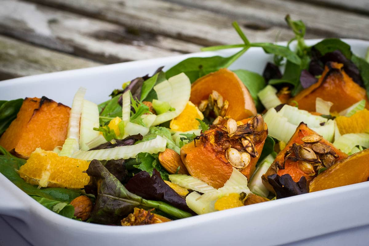 Butternut Squash Oranges And Fennel Salad