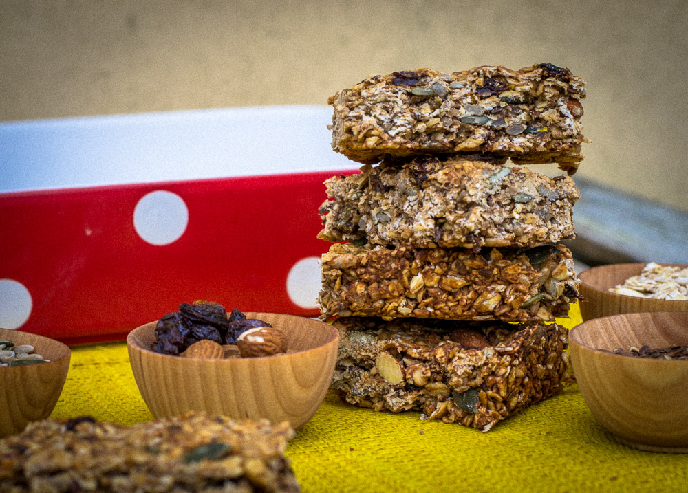 Sugar-free vegan flapjacks