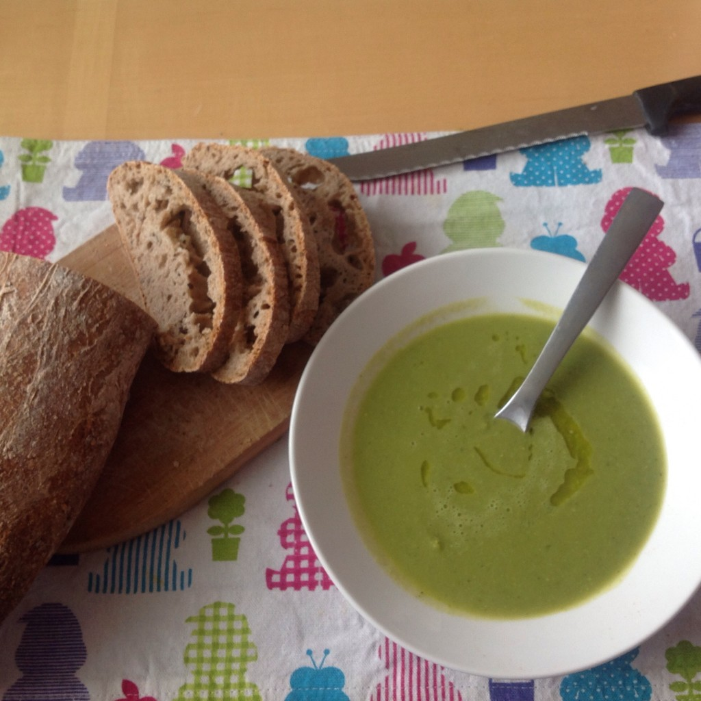 Peas-and-mint-soup