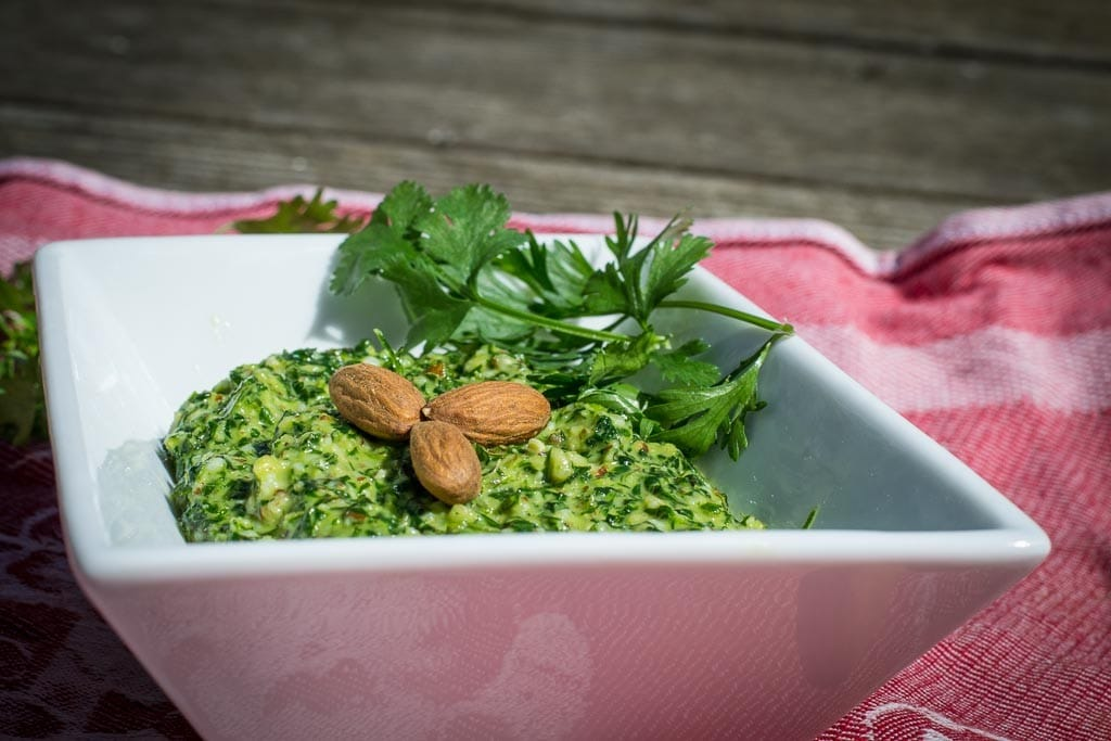 coriander-and-almond-pesto