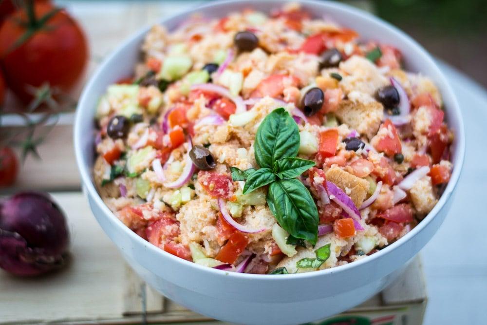 Panzanella Tuscan Tomatoes And Bread Salad