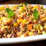 Summery Couscous Salad with Mint and Lemon