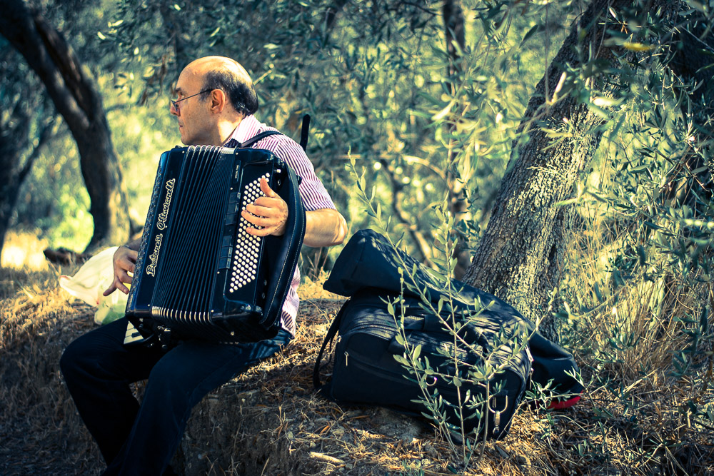 Lavender festival in Pietrabruna - Man playing accordion