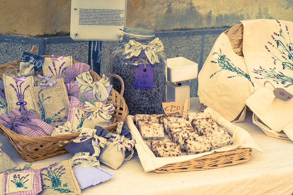 Lavender products at Color Lavanda, Pietrabruna, Imperia, Italy