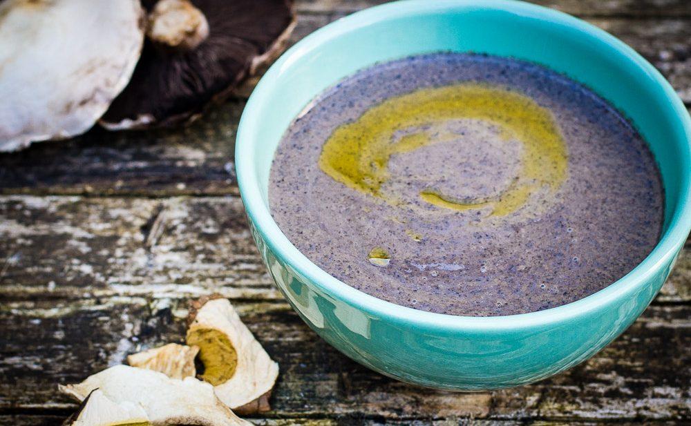 Autumn porcini mushroom soup
