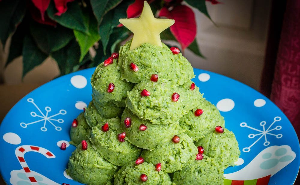 Broccoli and Mash Christmas Tree