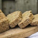 Vegan brown soda bread slices