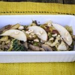 Adding Apples Hazelnuts to Creamy Cabbage Potatoes Mushrooms